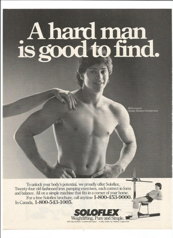 1985 Soloflex Advertisement Home Gym 80s Fitness Weightlifting