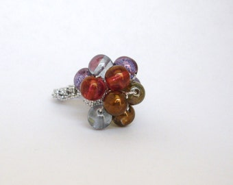 Lumi Picasso Mix Crochet Cluster Ring