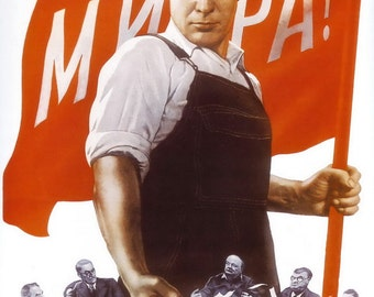 Sovet Political Posters. We demand peace. V. Koretskii. Moscow, Leningrad. Soviet poster, soviet propaganda, soviet union 1950 ussr poster