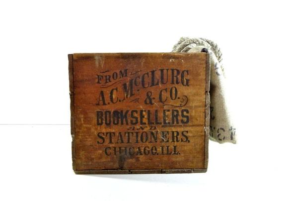 Antique Large Wood Crate / Industrial Storage