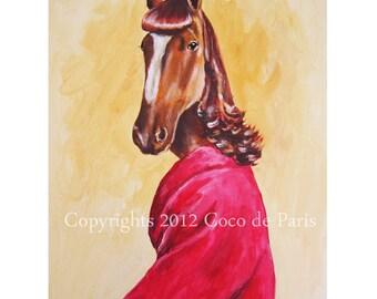 Cute Horse Painting, Original Arwork, Horse Art, Horse Decor, Acrylic Painting by painter Coco de Paris