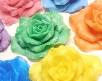 20 Rose Soap Wedding Favors - Wedding Momentos - Cottage Chic Bridal Shower Favors - Soap Favors
