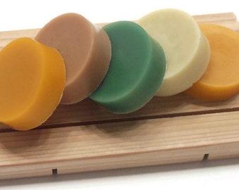 5 SHAVING SOAP SAMPLES - Gift Soaps for Him - Mens Shaving Soap - Gift for Him - 5 Samples Shaving Soaps