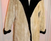Beautiful Black and white fake fur coat 1960's