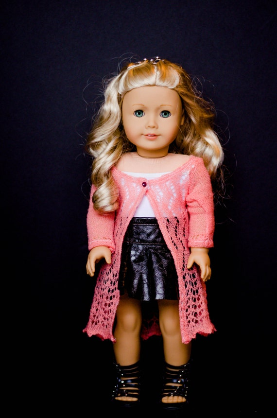 The Penny cardigan for American Girl and other 18 inch dolls