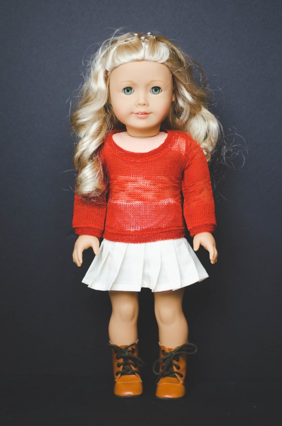 The Tracy Skirt with lace overlay for American Girl or other 18 inch Dolls