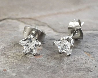 SALE - Crystal Star Stud Earrings