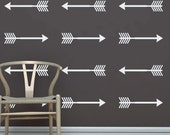 FREE SHIPPING - Shooting Arrow Decals - Set of 10 - Vinyl Wall Decal Stickers