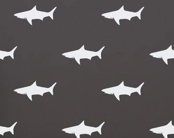 Shark Decals | Set of 16 | Vinyl Wall Decal Stickers | Trendy Wall Decor | FREE SHIPPING