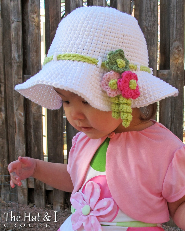 CROCHET PATTERN Spring Garden a crochet spring hat