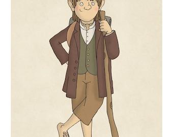 Bilbo Baggins - Hobbit - Lord of the Rings -  Illustration Print
