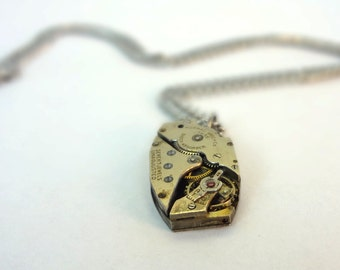 Steampunk Necklace Made From Vintage Watch Movement SPN#-10166