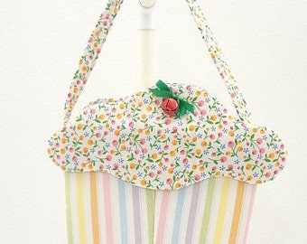 CLEARANCE SALE cupcake purse pastels fruit frosting goodie bag gift bag CC144