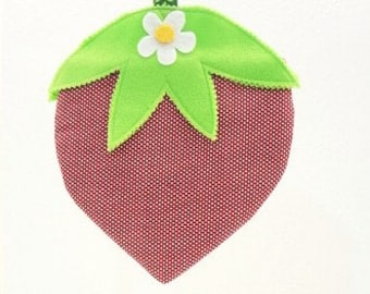 StrawBerry Purse little girls purse novelty purse May Day Easter basket birthday gift STR011