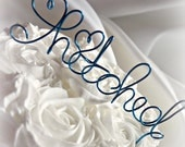Hitched Cake Topper, Choose Your Color & Size