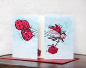 Red LadyBug Birthday Card