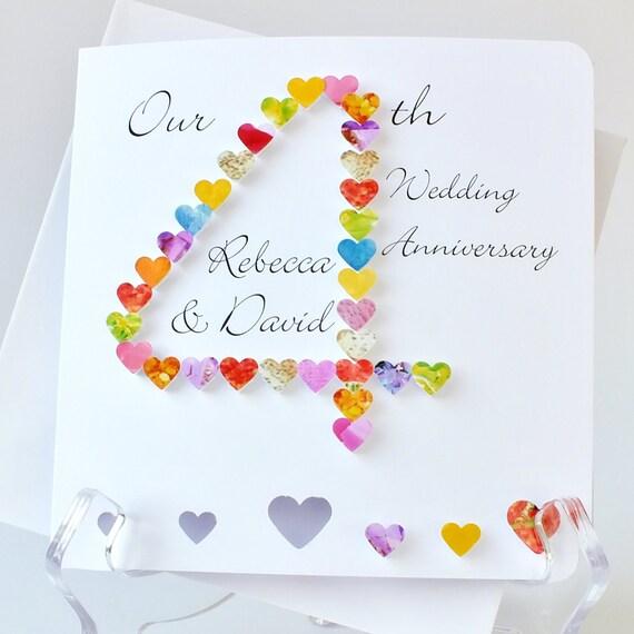 Handmade d th wedding anniversary card by cardsbygaynor