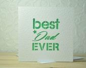 Best Dad Ever Laser Cut Card