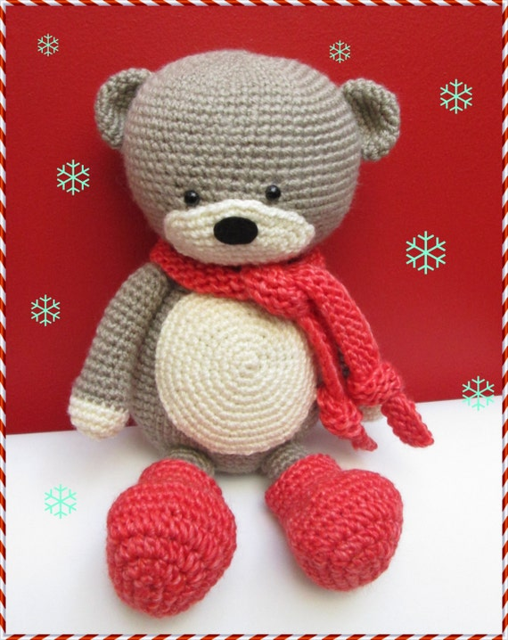 Amigurumi Bear Tutorial : Winter Bear Amigurumi Tutorial / Bear Amigurumi PDF / Crochet