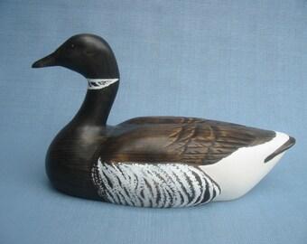 Handcarved Black Brant Goose Decoy Robert Kelly
