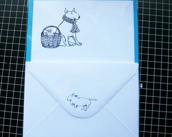 Bull Terrier Correspondence Set 10 sheets of Writing Paper and 5 envelopes
