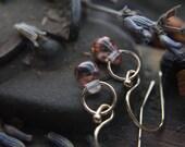 Gold Drop Earrings, Small Dangle Earrings, Gold Fill Earrings, Simple Earrings, Rose Gold Jewelry, Handmade Earrings, Modern Jewerly.