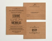 Kraft Paper Wedding Invitation & Reply Templates / Handlettered Rustic Love / Instant Download