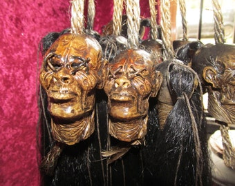 Shrunken head smallest on etsy for your rear view mirror