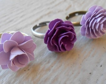 Paper Flower Ring. CHOOSE Your COLOR & FLOWER!  Wedding, Mother's Day, Birthday, Gift, Women, First Anniversary