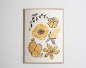Wild Florals card in Golden Yellow