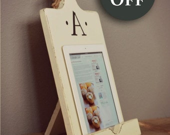 iPad Accessory - iPad Holder - Kindle - Tablet Stand - Cookbook Holder - Cookbook Stand - Wood - Kitchen - Gift For Her - Gift For Mom