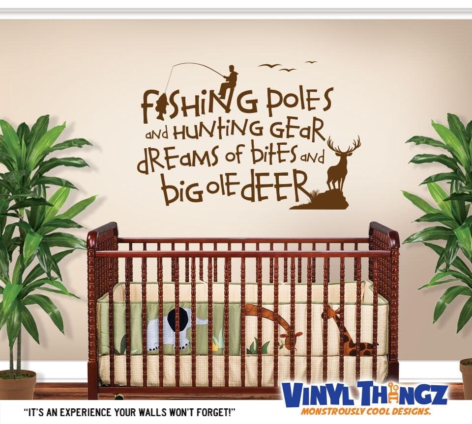 Fishing Wall Decal Hunting Decor Nursery By Vinylthingzwalls