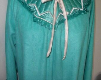 Vintage Velour Robe Kingly Dressing Gown House Coat Medium