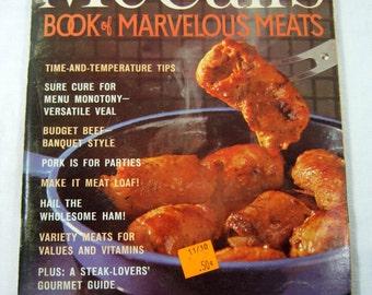Vintage McCALLS MARVELOUS MEATS COOKBOOK 100s Meat Recipes Circa 1978 Cook Book
