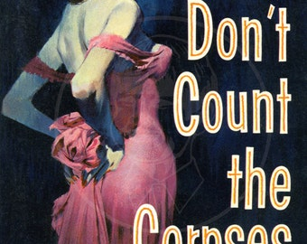 Don't Count the Corpses - 10x15 Giclée Canvas Print of a Vintage Pulp Paperback Cover