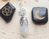 Pentagram Quartz, Healing Crystal Necklace,quartz crystal point, quartz crystal necklace, healing crystals and stones