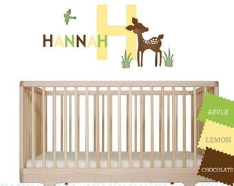 Deer Wall Decals Willow Nursery Kids Reusable Fabric Wall - Nursery wall decals gender neutral