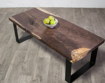 YOUR CUSTOM Black Walnut Wood COFFEE Table - Contemporary - Natural