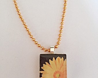 Gerbera Necklace - Flower Necklace - Floral Necklace - Summer Necklace - Gerbera Jewelry - Flower Jewelry - Gift For Her - SALE