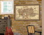 London  map - Old map of London reproduction - City of London   map print