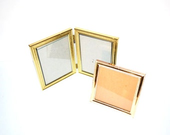 Brass Picture Frames Gold Picture Frames Frames Bi Fold Frame Wedding Décor Gold Picture Frames Table Numbers