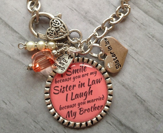 Wedding Gift For Sister Cash : SISTER in LAW Gift / Sister Bracelet / Sister of the Groom / Bridal ...