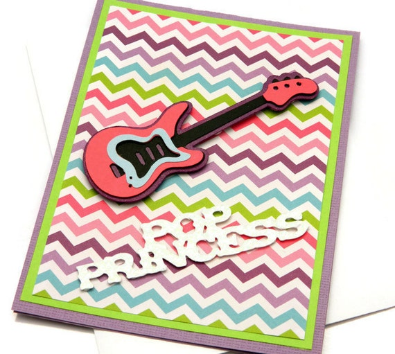 Guitar Birthday Card Music Birthday Card By DesignsByCnC