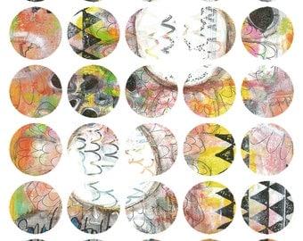 Art Journaling Mixed Media Stickers 6 - Round