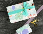 Water Babies Wrapping Paper, 2 Feet x 10 Feet