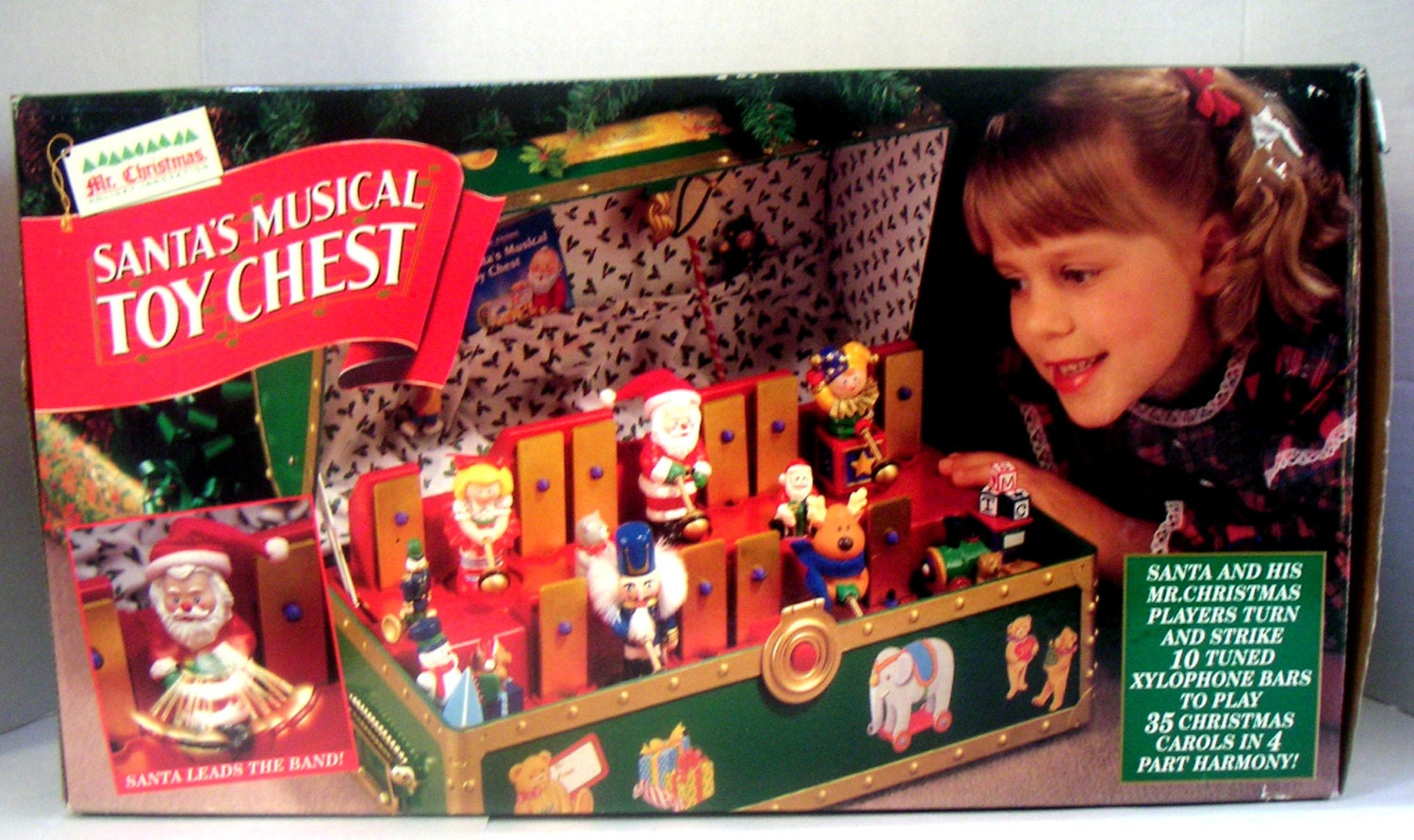 Christmas Toy Box : Vintage santa s musical toy chestplays christmas