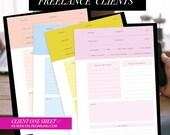 Freelance Client Organizer for Your Personal Sized / A5 Planner (kikki.k / kate spade / filofax)