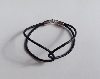 Leather cord bracelet, simple gift, gift wrapped, free shipping