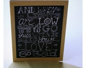 Chalkboard Style Valentine Card