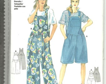 Burda Pattern 3779 Misses Loose Fitting Overalls 2 lengths (8-18) UNCUT